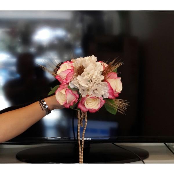 Yapay Pembe-Beyaz Gelin El Çiçeği
