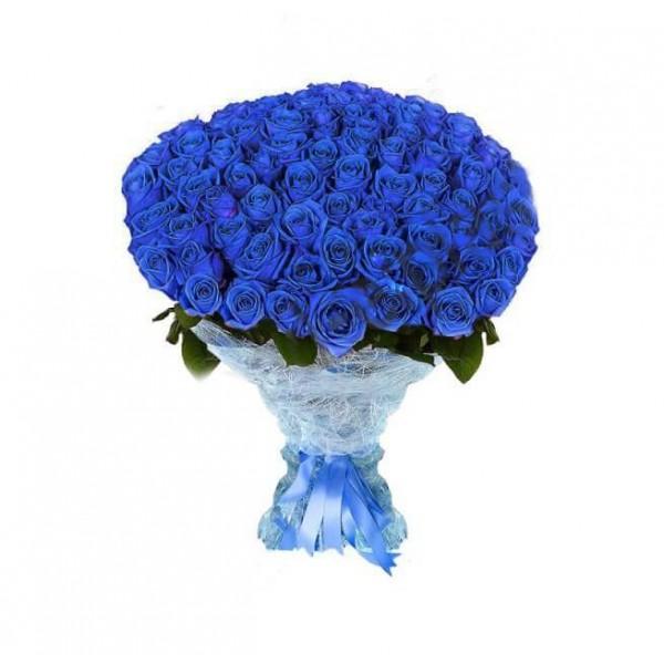 101 Adet Mavi gül